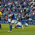 festejo del Chaco por el gol del Cruz Azul en la jornada 9 del torneo apertura 2017