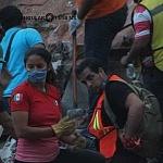 voluntarios durante el sismo del 19 de septiembre de 2017 en la ciudad de México (5)
