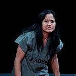 Abril Mayett en la puesta en escena La verdura carnívora Teatro Coyoacán CDMX.