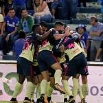 America festeja el gol y el trinfo sobre el Cruz Azul 1 por 3 en la jornada 13