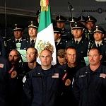 Ceremonia de despedida de Rescatistas de Estados Unidos en el Hangar de la unidad especial de transporte aéreo del alto mando en la ciudad de México (2)