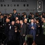 Ceremonia de despedida de Rescatistas de Estados Unidos en el Hangar de la unidad especial de transporte aéreo del alto mando en la ciudad de México (4)
