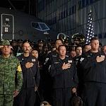 Ceremonia de despedida de Rescatistas de Estados Unidos en el Hangar de la unidad especial de transporte aéreo del alto mando en la ciudad de México (9)