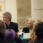 Elena Poniatowska y Luis Moro en la presentación La leona (10)