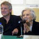 Elena Poniatowska y Luis Moro en la presentación La leona (6)