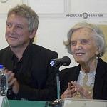 Elena Poniatowska y Luis Moro en la presentación La leona (7)