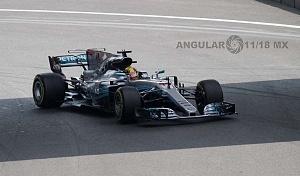 Gran premio de México de F1 2017 auto numero 44 piloto Lewis Hamilton
