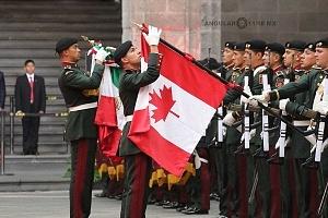 Primer Ministro de Canadá Justin Trudeau en Visita Oficial a la Ciudad de México Guardia Oficial