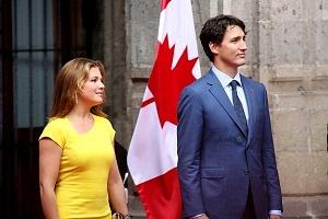 Primer Ministro de Canadá Justin Trudeau y su esposa Sophie Grégorie en Visita de estado a la Ciudad de México (1)
