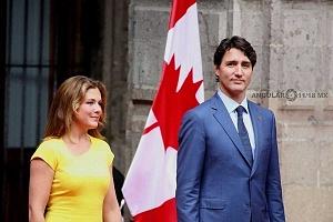 Primer Ministro de Canadá Justin Trudeau y su esposa Sophie Grégorie en Visita de estado a la Ciudad de México (2)