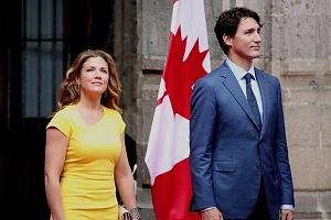 Primer Ministro de Canadá Justin Trudeau y su esposa Sophie Grégorie en Visita de estado a la Ciudad de México