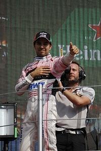Sergio Perez Piloto de la la escuderia Force india termino en la septima posición del GP de México 2017 (3)