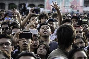 miles de jovenes asisten al cierre de el concierto de la semana de las juventudes 2017
