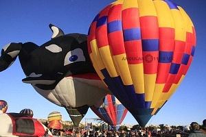 FIG 2017 despegues de globos de diferentes figuras