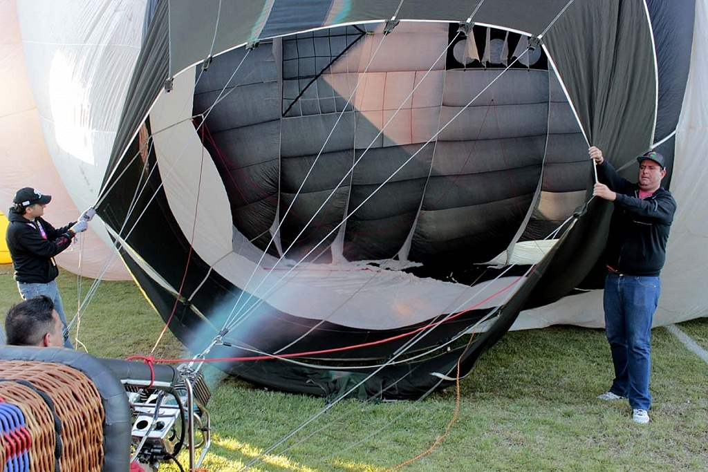 FIG 2017 inflado de un globo aereostatico