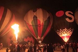 FIG 2017 inflado de un globo aereostatico noche de luces 9