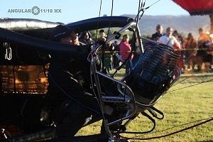FIG 2017 inflado de un globo aereostatico por la mañana 1