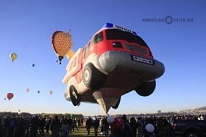 Festival Internacional del Globo de León 2017 despegue de unj globo aereostatico en forma de camion 1
