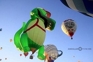 Festival Internacional del Globo de León 2017 despegues e inflado de globos 1