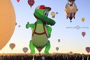 Festival Internacional del Globo de León 2017 despegues e inflado de globos 2