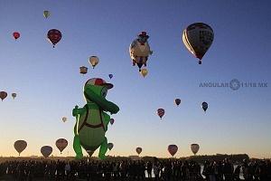 Festival Internacional del Globo de León 2017 despegues e inflado de globos 4