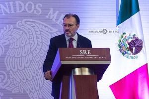 Luis Videgaray secretario de relaciones exteriores en el evento de la Reunión Anual con el Cuerpo Diplomático Acreditado en México (2)