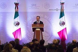 Luis Videgaray secretario de relaciones exteriores en el evento de la Reunión Anual con el Cuerpo Diplomático Acreditado en México.