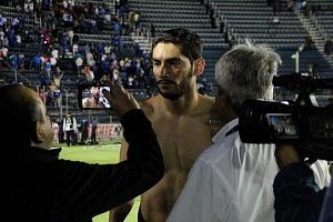 arquero del Cruz Azul Jesus Corona despues del triunfo ante el Veracruz en la jornada 17