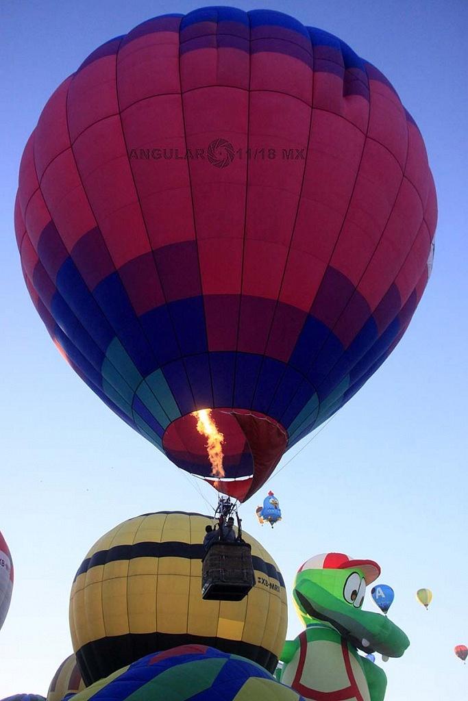 despegue de globos aerostaticos en la FIG 2017