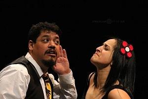 M H espectaculo CLOWN con los actores Abril Mallet y Juan Carlos Medellín 2