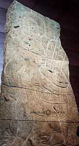 Presentación del bajorrelieve llamado Xoc perteneciente a la cultura Olmeca en el Museo Nacional de Antropología e Historia 10