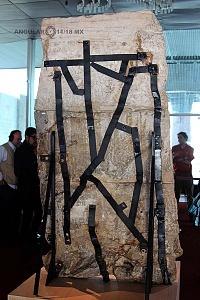 Presentación del bajorrelieve llamado Xoc perteneciente a la cultura Olmeca en el Museo Nacional de Antropología e Historia 8