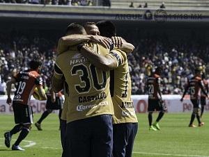 festejo del gol de Pumas ante el Atlas en la Jornada 2 del torneo de clausura 2018