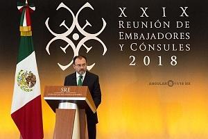 Doctor Luis Videgaray Caso en la XXIX Reunión de Embajadores y Cónsules 2018 (1)