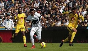 Nicolás Castillo delantero de los Pumas en la jornada 3 del torneo de clausura 2018 (14)