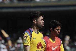 Oribe Peralta en el encuentro de la jornada 3 del torneo de clausura 2018 contra el América