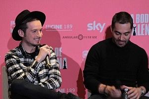 Jesús Zavala y Omar Chaparro elenco de la pelicula La Boda de Valentina en conferencia de prensa