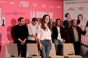 Marimar Vega elenco de la pelicula La Boda de Valentina en conferencia de prensa