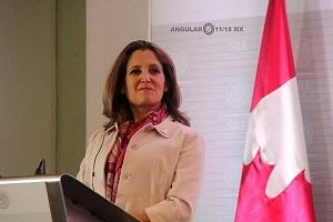 Ministra de Relaciones Exteriores de Canadá, CrhystiaFreeland 1