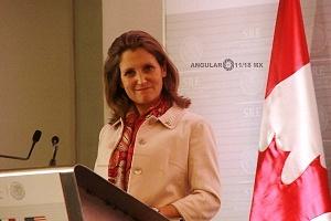 Ministra de Relaciones Exteriores de Canadá, CrhystiaFreeland 3