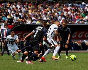 Nicolás Castillo delantero de Pumas en la jornada 9 del clausura 2018