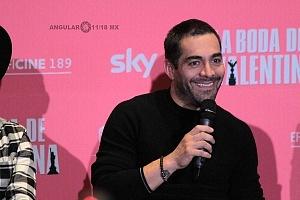 Omar Chaparro elenco de la pelicula La Boda de Valentina en conferencia de prensa