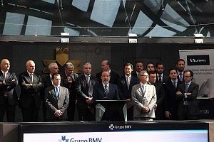 UNIFIN recibe reconocimiento otorgado por la Bolsa Mexicana de Valores, durante una ceremonia de timbrazo 2