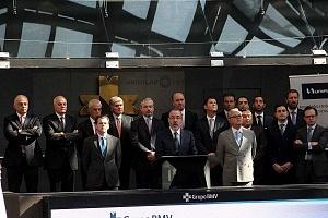UNIFIN recibe un honorable reconocimiento otorgado por la Bolsa Mexicana de Valores, durante una ceremonia de timbrazo 1