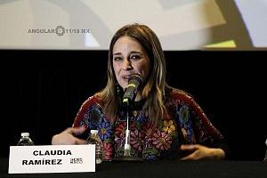 actriz Claudia Ramires en el Lanzamiento de Convocatorias 2018 del Shorts México, Festival Internacional de Cortometrajes