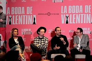 elenco de la pelicula La Boda de Valentina en conferencia de prensa 2