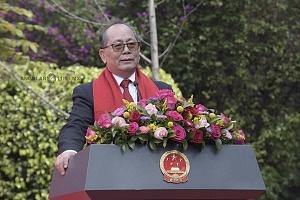 embajador de China en México Qiu Xiaoqi en la celebración del dia de la Cultura China
