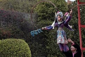 en el jardín principal de la sede diplomática China se ofrecieron shows de canto, titeres y danza Artística con motivo del año Chino del perro 5