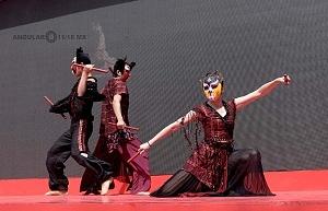 en el jardín principal de la sede diplomática China se ofrecieron shows de canto y danza Artística con motivo del año Chino del perro 1