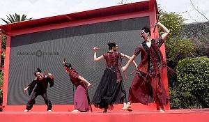 en el jardín principal de la sede diplomática China se ofrecieron shows de canto y danza Artística con motivo del año Chino del perro 2